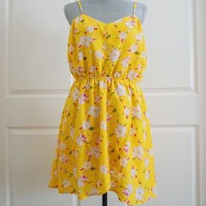 Papaya Floral Flowy Dress